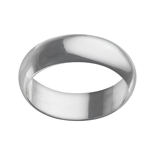 Sterling Silver 7-mm Polished Wedding Band - Men