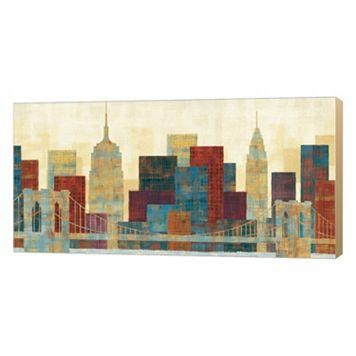 Metaverse Art Majestic City Canvas Wall Art