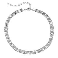Simulated Crystal Choker Necklace