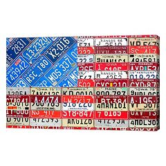 Metaverse Art US American Flag Canvas Wall Art