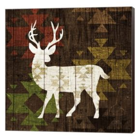 Metaverse Art Southwest Lodge Deer I Canvas Wall Art