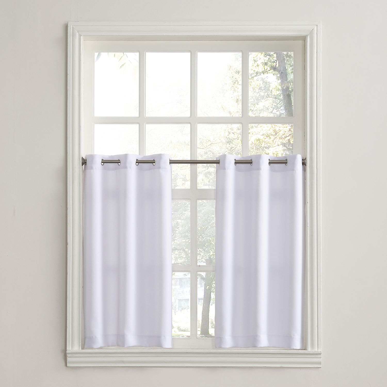 No918 Montego 2 Pack Solid Tier Curtains