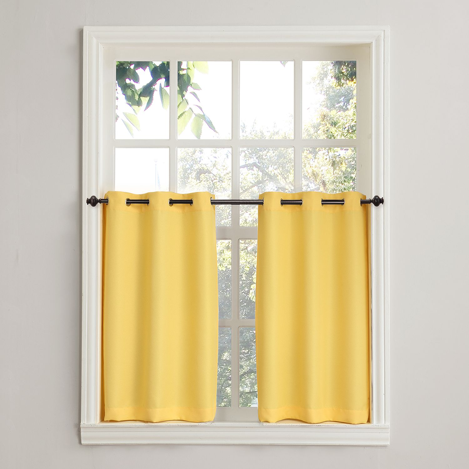 Exceptionnel No918 Montego 2 Pack Solid Tier Curtains