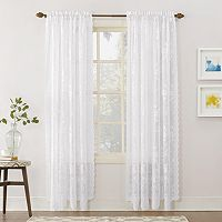 No918 Alison Floral Lace Sheer Curtain Panel