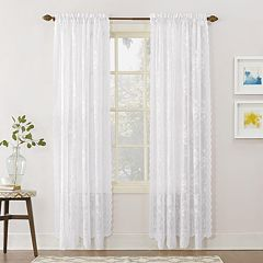 No 918 1-Panel Alison Floral Lace Sheer Window Curtain