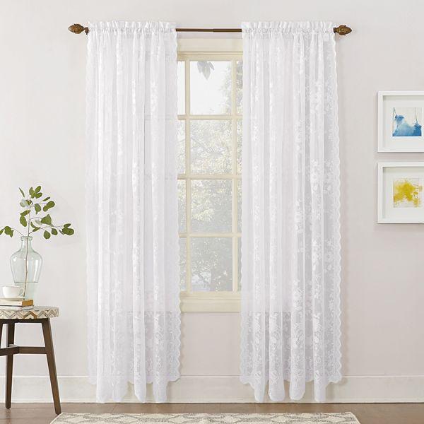 Alison Fl Lace Sheer Window Curtain
