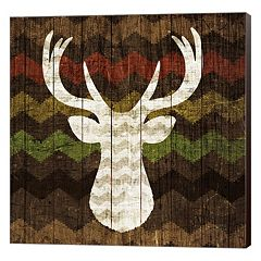 Metaverse Art Southwest Lodge Deer II Canvas Wall Art