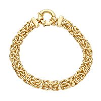 Sterling Silver 7.5 in. Byzantine Chain Bracelet