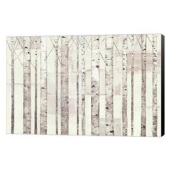 Metaverse Art Birch Trees Canvas Wall Art