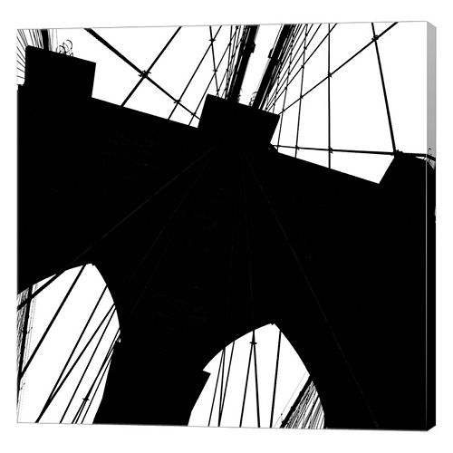 Metaverse Art Brooklyn Bridge Silhouette Canvas Wall Art