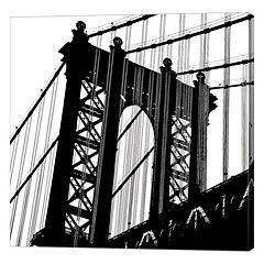 Metaverse Art Manhattan Bridge Silhouette Canvas Wall Art