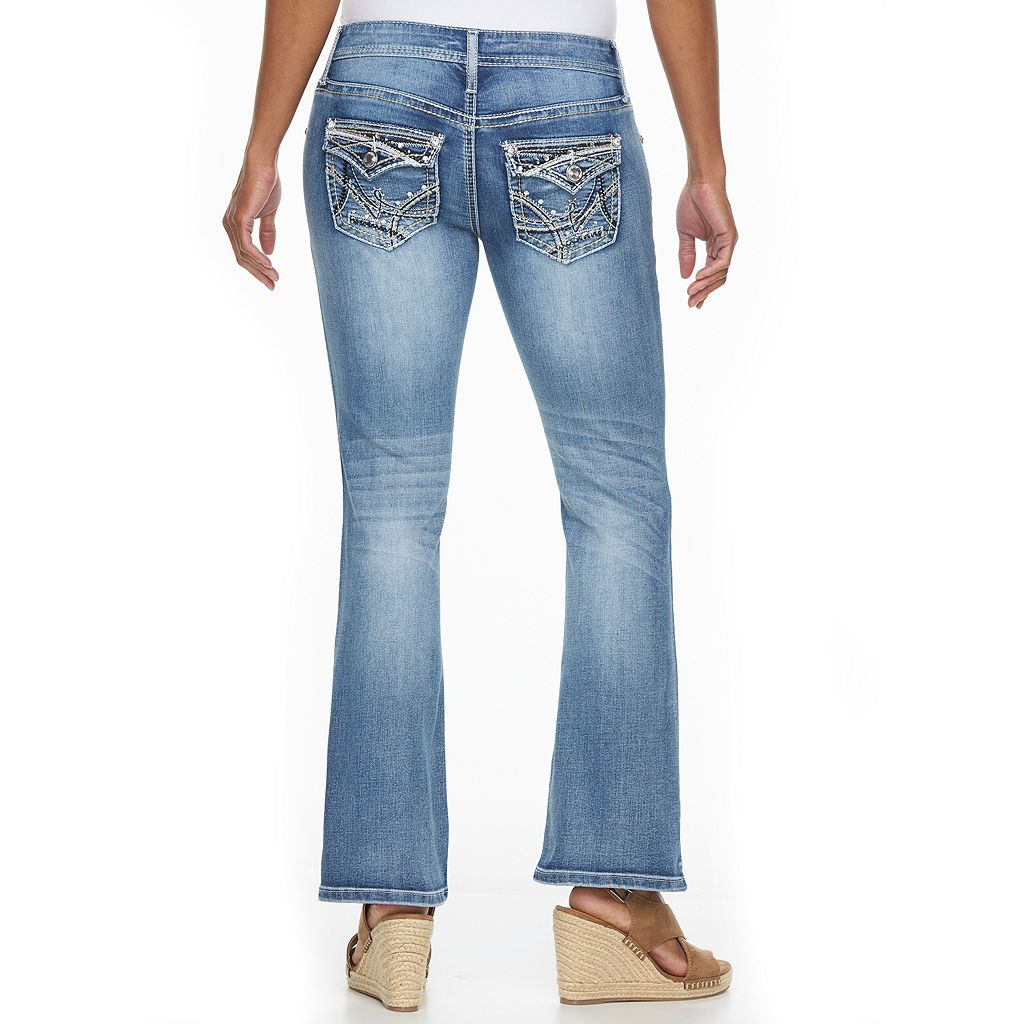 Petite Apt. 9® Modern Fit Embellished Bootcut Jeans
