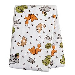 Trend Lab Baby Neutral Printed Flannel Swaddle Blanket