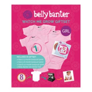 Belly Banter Watch Me Grow Baby Girl Gift Set by Slick Sugar