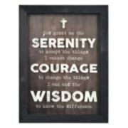 New View Serenity Prayer Shadowbox Framed Wall Art