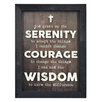 New View Serenity Prayer Shadowbox Framed Wall Art