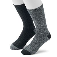 Men's Climatesmart Plushfill Ribbed Outdoor Casual Crew Socks