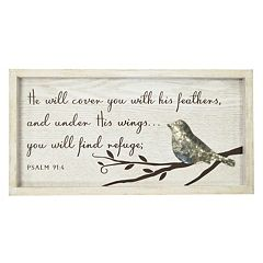 New View Under His Wings Bird Framed Wall Art