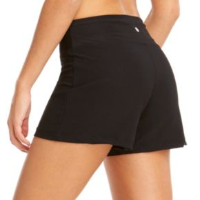 Women's Bally Total Fitness Flat Waist Yoga Shorts