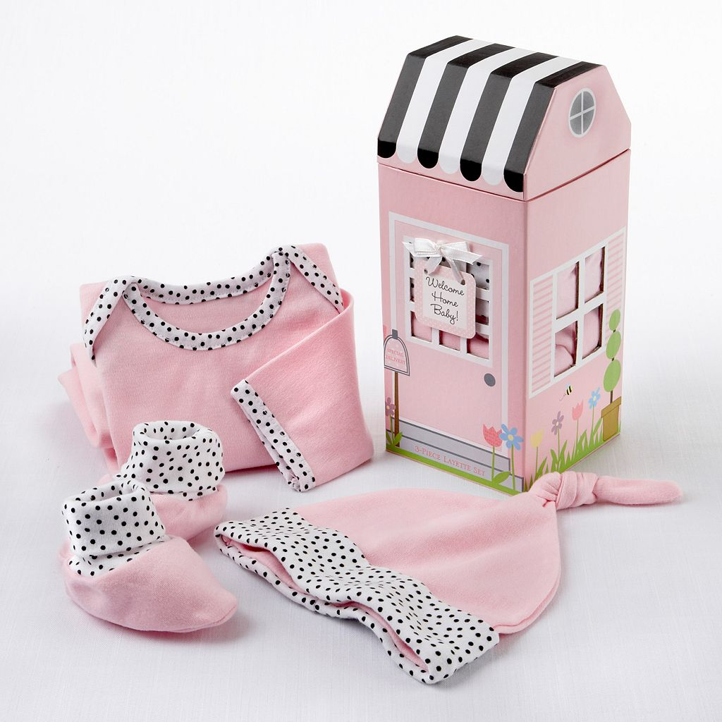 Baby Aspen 3-pc. Welcome Home Baby Girl Gift Set