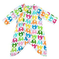 i play. Baby Girl Brights Organic Muslin Wrap Gown
