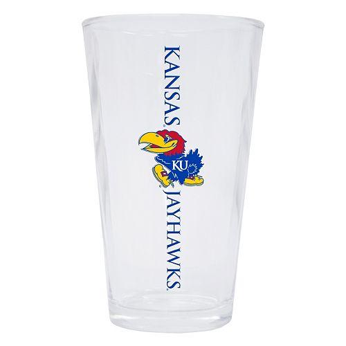 Kansas Jayhawks 2-Pack Pint Glass Set