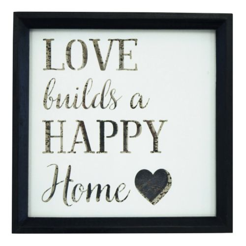 """New View """"Love Home"""" Mirrored Framed Wall Art"""
