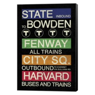 """Metaverse Art Boston """"Buses And Trains"""" Canvas Wall Art"""