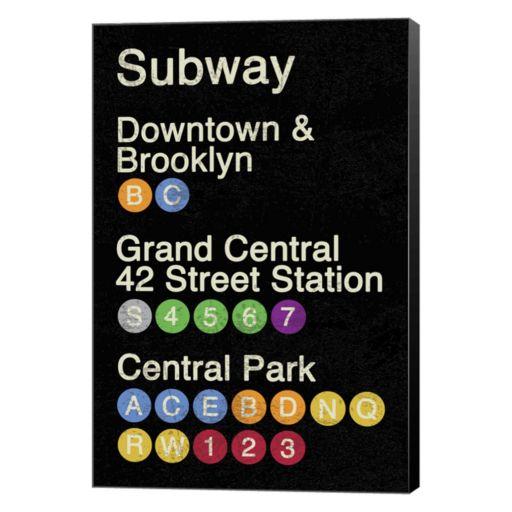 """Metaverse Art NYC """"Subway"""" Canvas Wall Art"""