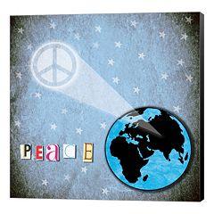 Metaverse Art 'Peace' Earth Canvas Wall Art