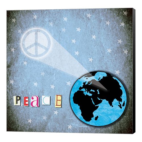 "Metaverse Art ""Peace"" Earth Canvas Wall Art"
