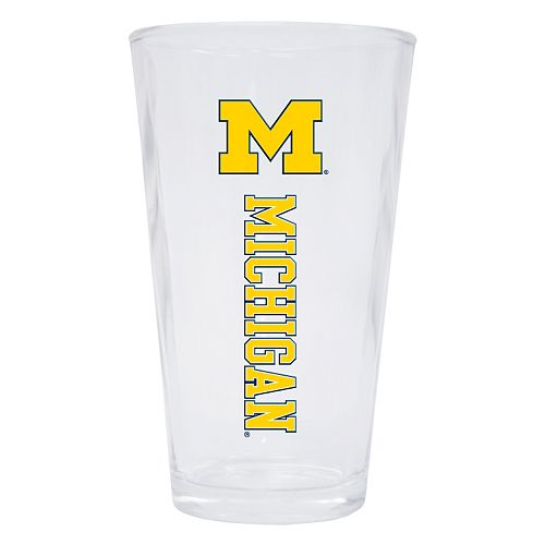 Michigan Wolverines 2-Pack Pint Glass Set