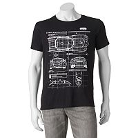 Men's DC Comics Batman Schematic Tee