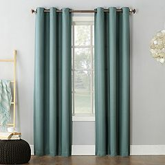 No 918 1-Panel Montego Casual Textured Grommet Window Curtain