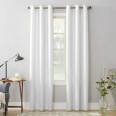 No 918 1-Panel Montego Casual Textured Grommet Window Curtain