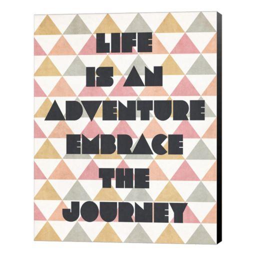 """Metaverse Art """"Life is an Adventure"""" Canvas Wall Art"""