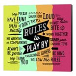 "Metaverse Art ""Rules To Play By"" Canvas Wall Art"