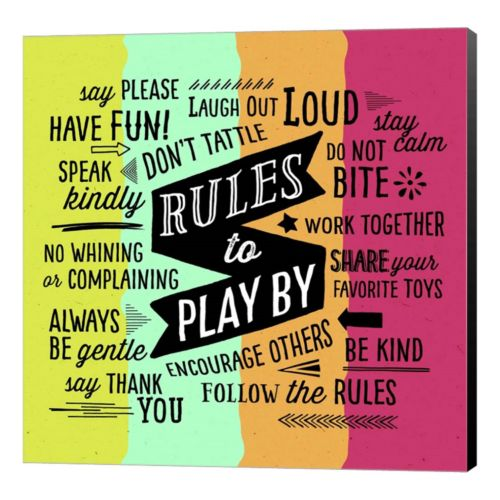 Metaverse Art Rules To Play By Canvas Wall Art