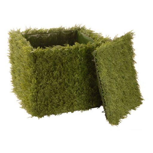 "National Tree Company 24"" Artificial Juniper Square Storage Box"