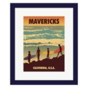 "Metaverse Art ""Mavericks"" Framed Wall Art"