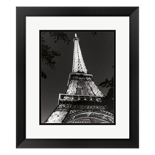 Metaverse Art Eiffel Tower at Night Paris Framed Wall Art