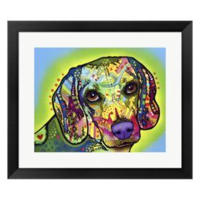 Metaverse Art Beagle Framed Wall Art