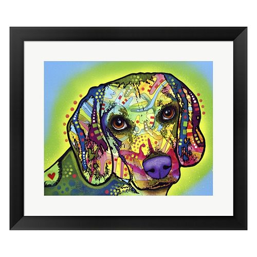 Metaverse Art Beagle Framed Wall Art