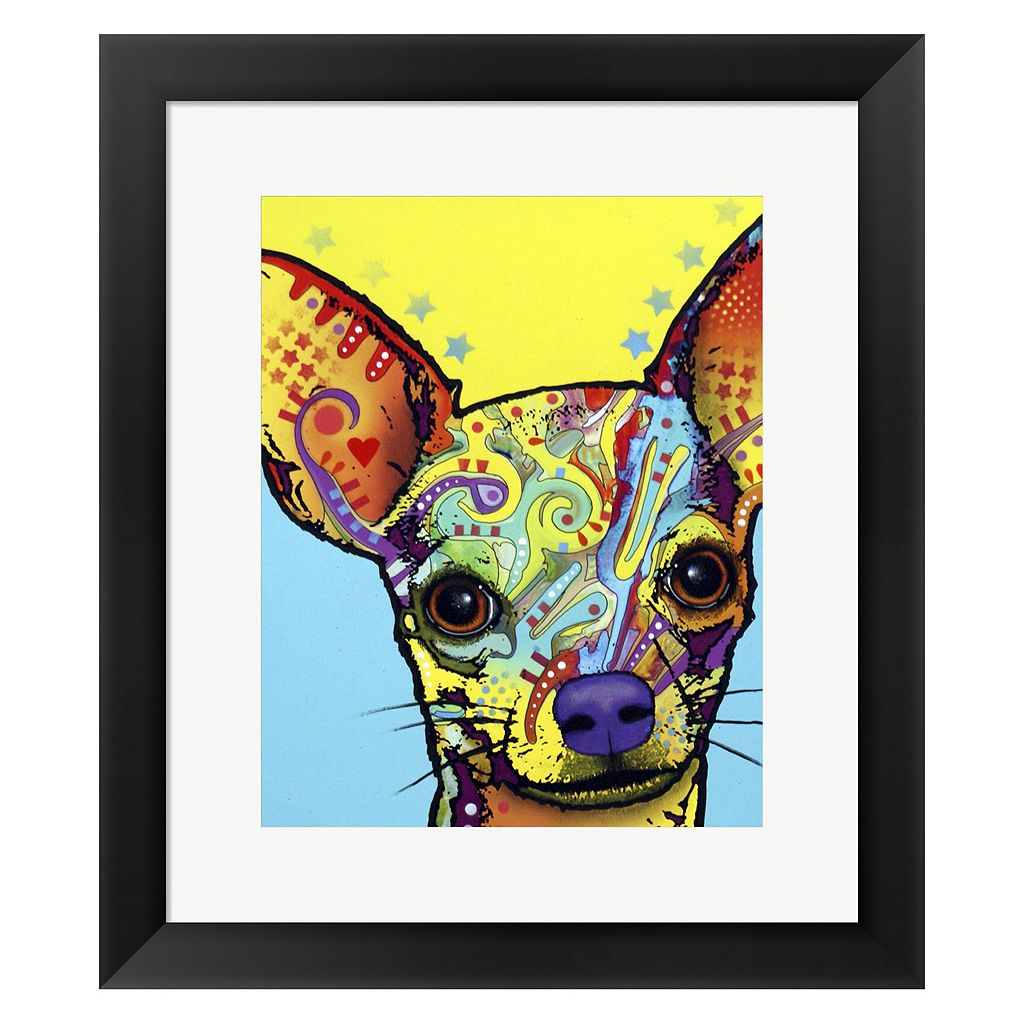 Metaverse Art Chihuahua I Framed Wall Art by Dean Russo