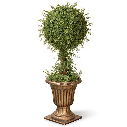 "National Tree Company 36"" Artificial Mini Tea Leaf One-Ball Topiary"