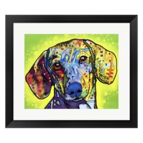 Metaverse Art Dachshund Framed Wall Art by ?Dean Russo
