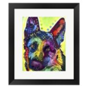Metaverse Art German Shepherd 1 Framed Wall Art by ​Dean Russo