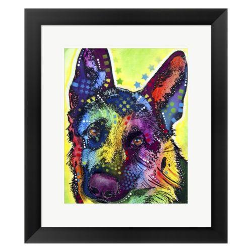 Metaverse Art German Shepherd 1 Framed Wall Art by Dean Russo