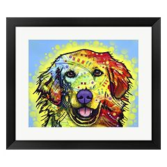 Metaverse Art Golden Retriever Framed Wall Art by ​Dean Russo