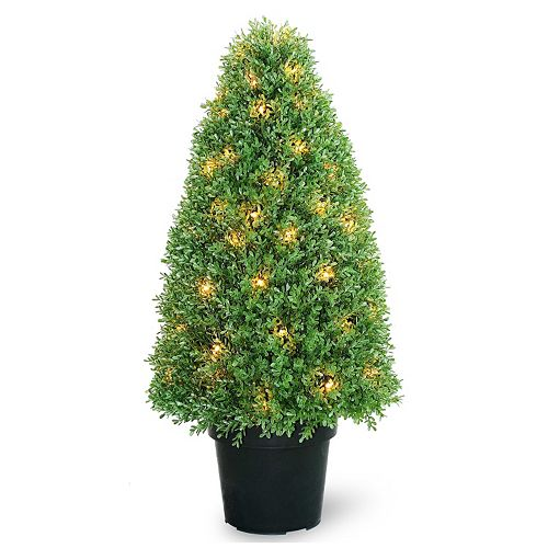 "National Tree Company Pre-Lit 36"" Artificial Boxwood Tree"